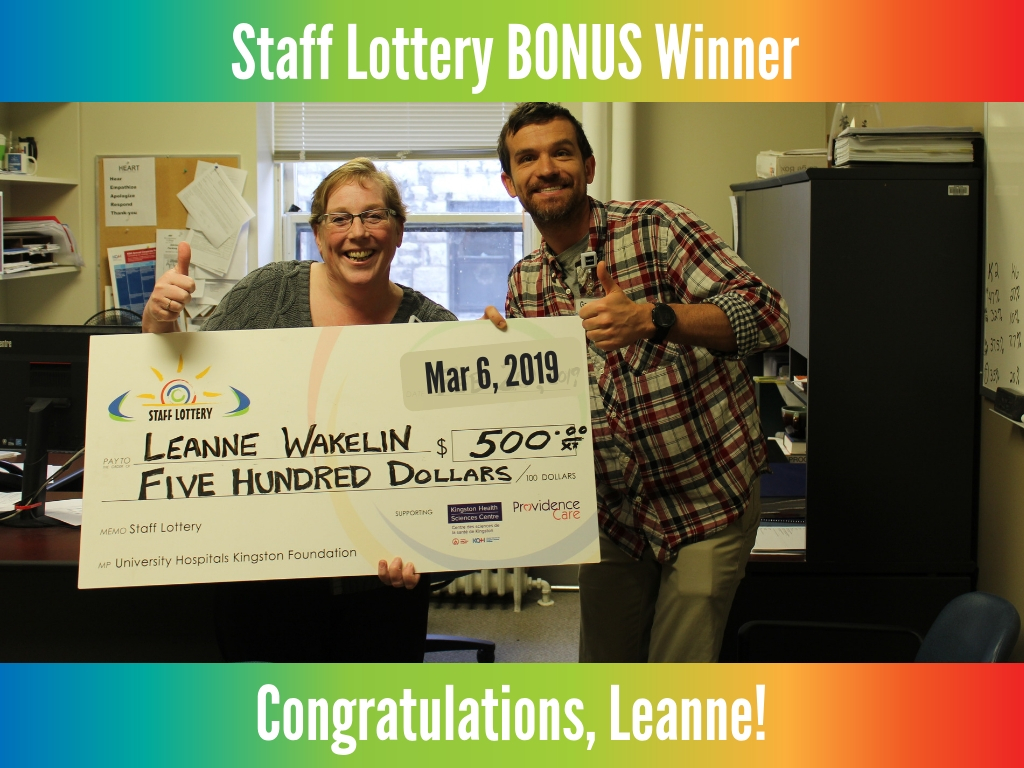 March 6, 2019 - Bonus Winner